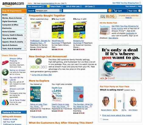 los Web site del Amazonas ahora mueven hacia atrás en 1998