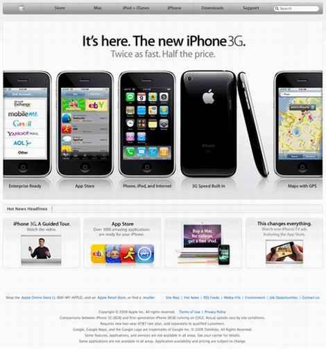 los Web site de la manzana ahora mueven hacia atrás en 1998