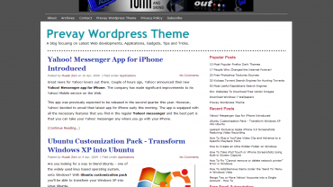 Prevay Wordpress Theme