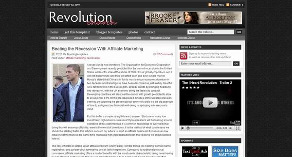 revolution-church-blogger-template