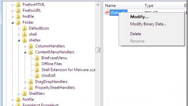 edit right click menu folder