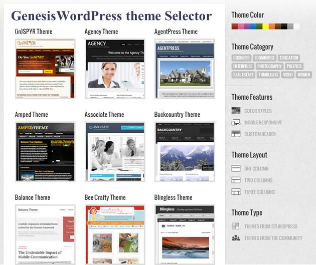 genesis_wordpress_theme_selector