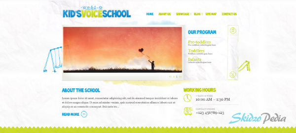Kid's Voice School WordPress Theme