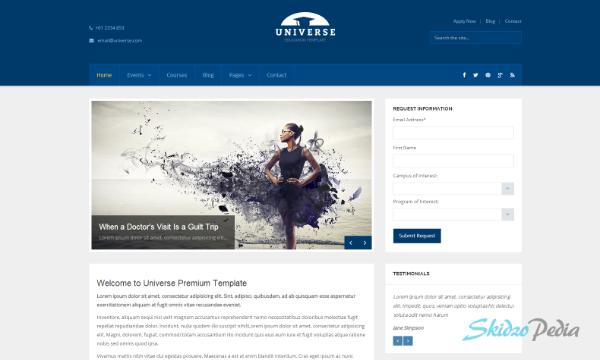 Universe – Education Responsive WordPress Theme