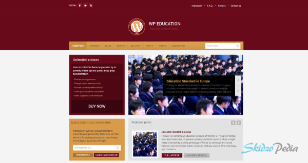 WP Education wordpress theme