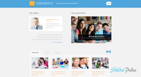 White University WordPress Theme