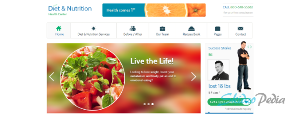 Diet & Nutrition Health Center WordPress Theme