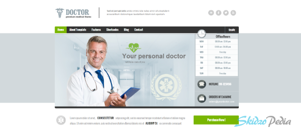 Doctor Universal Medical WordPress Theme