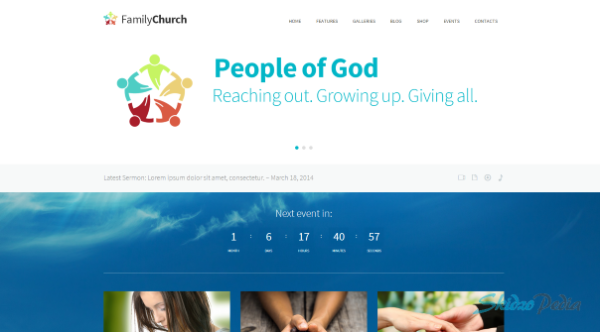 Family Church Religion WordPress Theme