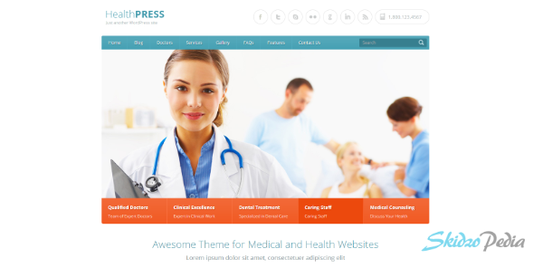 HealthPress – Health and Medical WordPress Theme