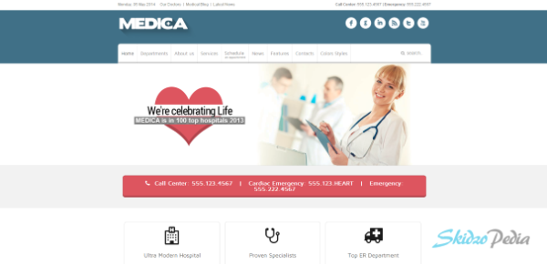 Medica – Clean and Responsive-Medical Theme
