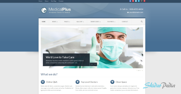 Medical Plus -Responsive Medical and Health Theme