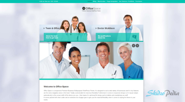 Office Space Responsive Business WordPress Theme