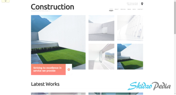 construction Photography WordPress Theme
