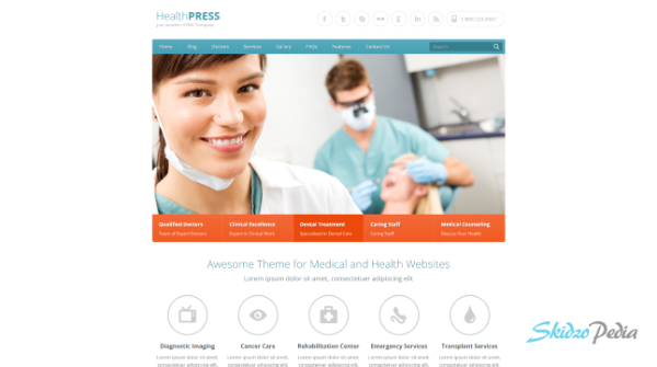 healthpress html template