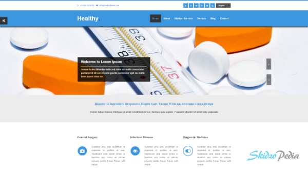 healthy html template