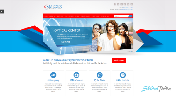 medex html template