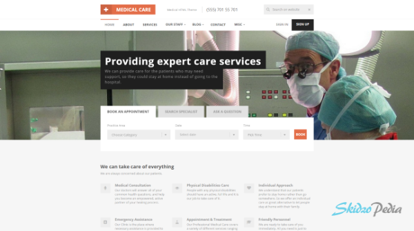 medical care html template