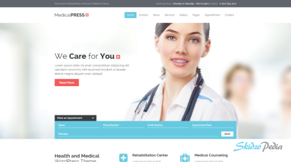 medical press html template