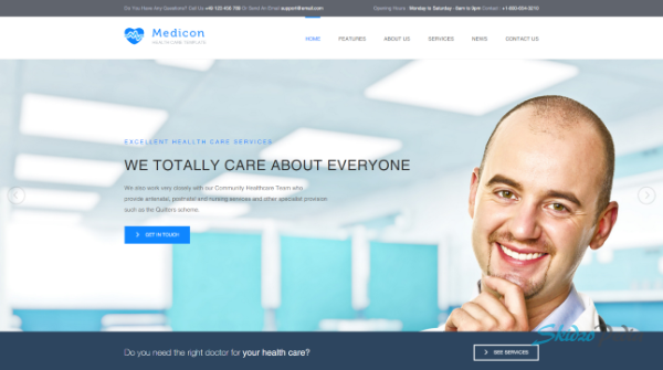 medicon html template