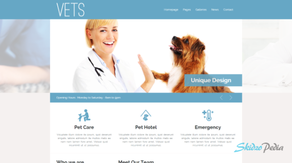 vets html template