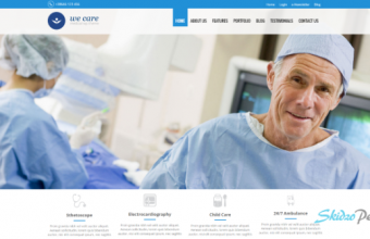 we care html template