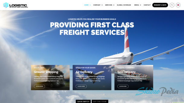 logistic wordpress theme